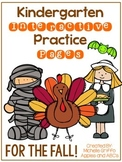 Fall Kindergarten Interactive Practice Pages