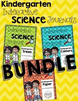 Kindergarten Interactive Science Journal: BUNDLE {Editable}