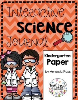 Kindergarten Interactive Science Journal: Paper {Editable}