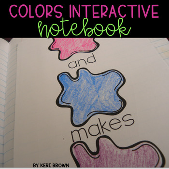 Interactive Notebook: Colors Unit, Activities