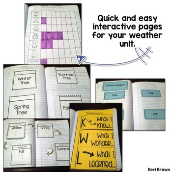 Seasons and Weather Interactive Notebook