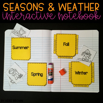 Seasons and Weather Unit Interactive Notebook