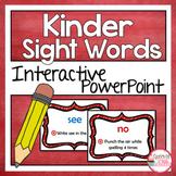 Sight Word Practice Interactive for Kindergarten