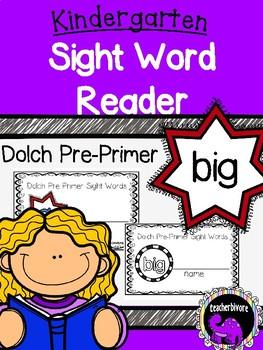 Kindergarten Interactive Sight Word Reader: Big