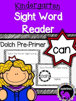 Kindergarten Interactive Sight Word Reader: Can