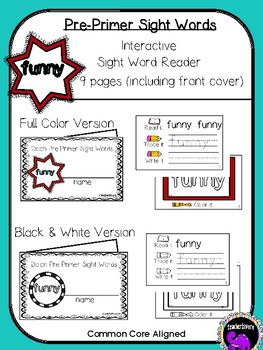 Kindergarten Interactive Sight Word Reader: Funny