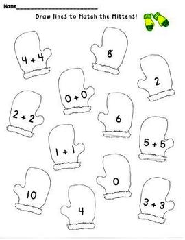 Kindergarten Interactive Winter Math Centers