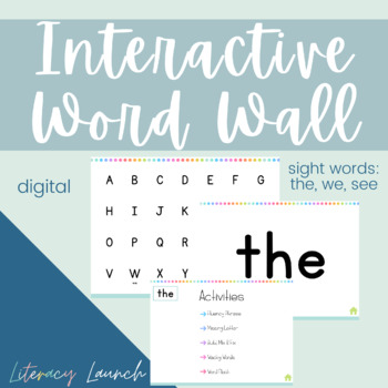 Kindergarten Interactive Word Wall {Unit 1 Wonders}