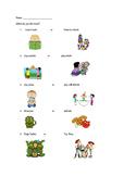 Kindergarten Interest Inventory