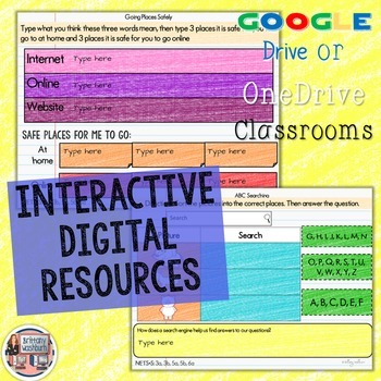 Kindergarten Internet Safety Digital Interactive Notebook