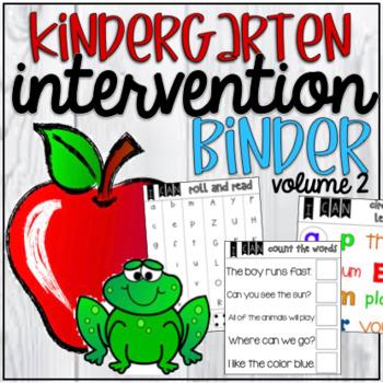 Kindergarten Intervention Binder Volume 2