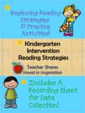 Kindergarten Intervention Packet- Reading Strategies