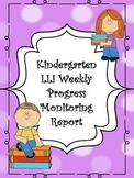 Kindergarten Intervention Progress Monitoring Data Sheet/ Report