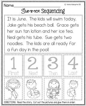 Kindergarten Into First Grade Summer Packet (No Prep, No Fluff, Common Core)