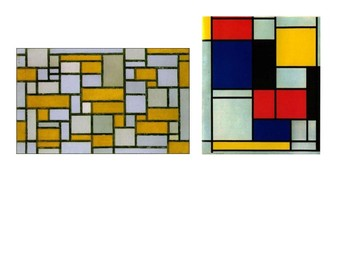 Kindergarten Intro to Primary Colors and Piet Mondrian