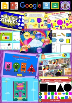 Kindergarten Introduction to 2D Shapes Smart Notebook and Unit of Work Bundle