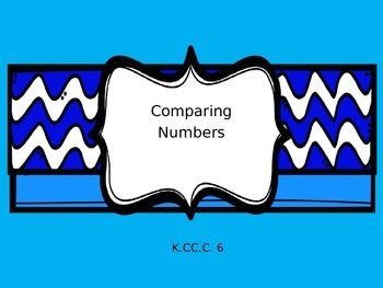 Kindergarten Introduction to Comparing Numbers Powerpoint