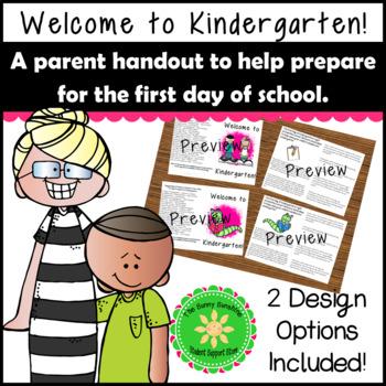 Kindergarten Handout