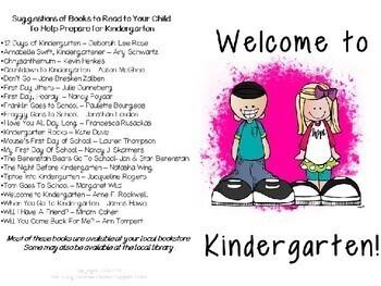 Back to School Kindergarten Brochure for Parents