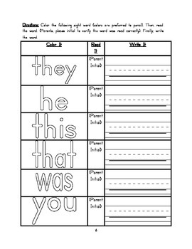 Kindergarten January  Homework Packet - Common Core Aligned
