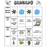 Kindergarten January Homework