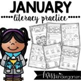January Kindergarten Literacy Practice