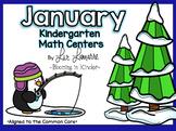 Kindergarten January Math Centers