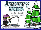 Kindergarten January Math Centers