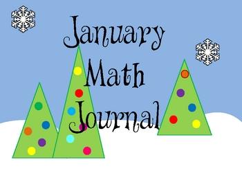 Kindergarten January Math Journal