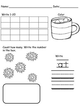 Kindergarten January Morning Work