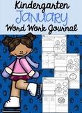 Kindergarten January Word Work Journal