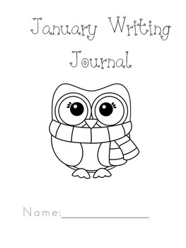Kindergarten January Writing Journal