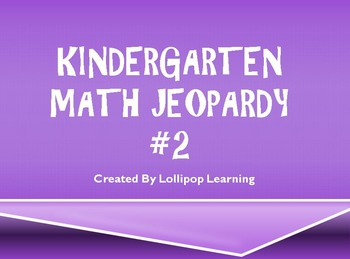 Kindergarten Jeopardy #2