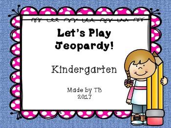 Kindergarten Jeopardy ELA