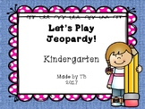 Kindergarten Jeopardy ELA