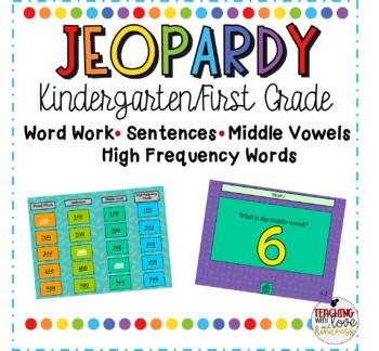Kindergarten Jeopardy Review