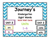 Kindergarten Journeys Sight Word Cards Edition 2014