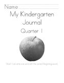 Kindergarten Journal Covers-Quarters