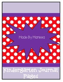 Kindergarten Journal Pages