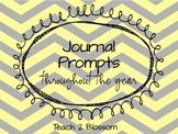 Kindergarten Journal Prompts for ALL writers.