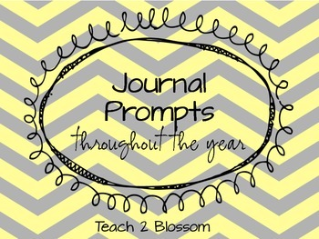 Kindergarten Journal Prompts for ALL writers.