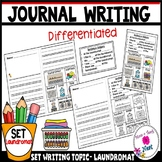 Kindergarten Journal Writing Prompts Differentiated- Set 7 Laundromat