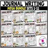 Kindergarten Journal Writing Prompts Differentiated-MEGA  BUNDLE Sets 1-11