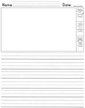 Kindergarten Journal with space for Self Assessment