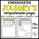 Kindergarten Journey's Comprehension Worksheet (NO PREP //