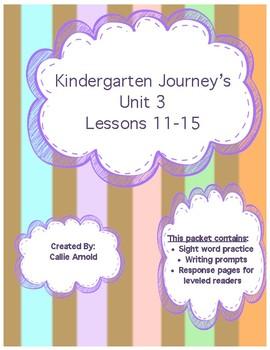 Kindergarten Journey's Unit 3