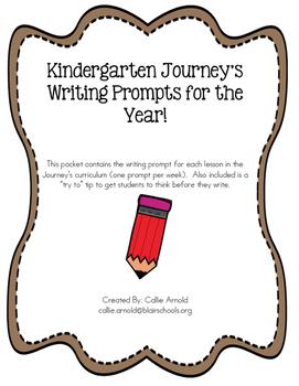 Kindergarten Journey's Writing Prompts