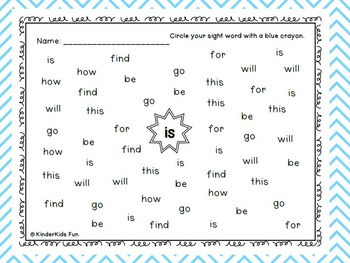 Kindergarten Journeys 2011 edition Sight Words Units BUNDLE