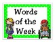 Kindergarten Journeys 2014 High Frequency Word Wall Cards (Lime Green Polka Dot)