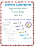 Kindergarten Journeys (2014) Sight Word Bundle Units 1-6